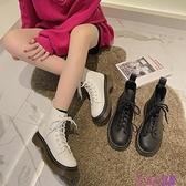 韓版新款厚底時尚馬丁靴女英倫風春季新款IG復古百搭短靴潮超級品牌【公主日記】