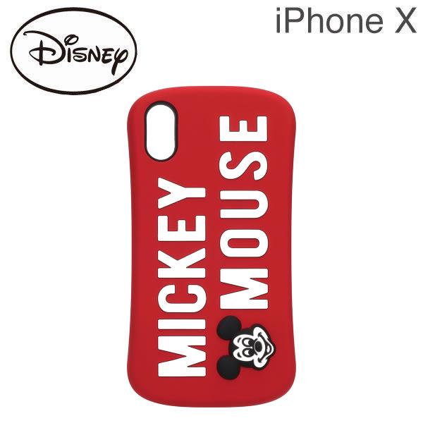 Hamee 日本 迪士尼 矽膠浮雕 iPhoneX 防摔 軟殼 手機殼 (米奇LOGO) DCS377MKY