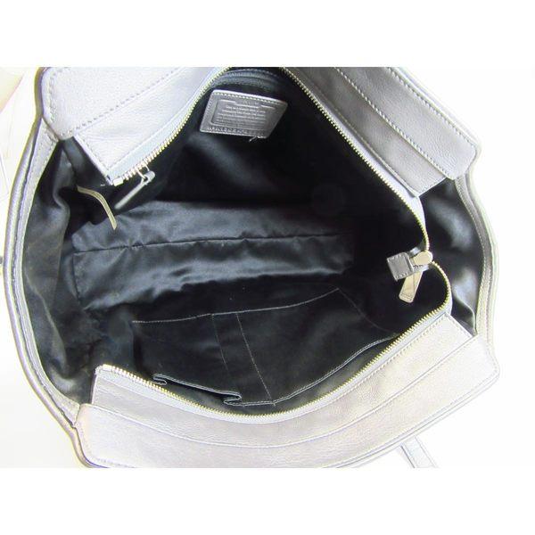 【特價40%OFF】COACH 黑色牛皮提花帆布手提肩背包 F25501 【BRAND OFF】