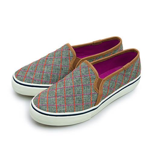 LIKA夢 Keds 時尚韓風經典款帆布鞋 DBL DECK WINDOW 系列 深灰棕 131887 女