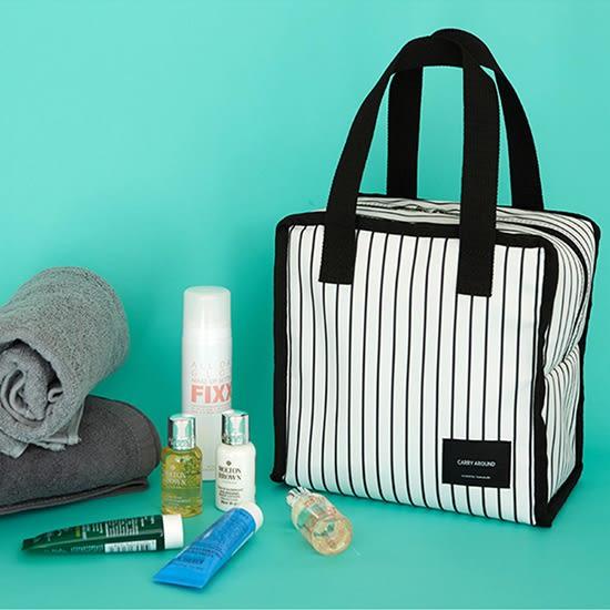 便當袋 現貨 收納包 保溫袋 手提包 容量 簡約正方保溫便當袋(短) ✭米菈生活館✭【L13-2】