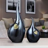 擺件家居飾品北歐創意現代簡約玄關軟裝飾品抽象設客廳酒櫃擺設jy【快速出貨】