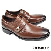 【CR CERINI】簡約時尚孟克鞋 深咖(80572-DBR)