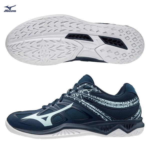 MIZUNO THUNDER BLADE 2 男鞋 排球 手球 橡膠 耐磨 2.5E 藍【運動世界】V1GA197017