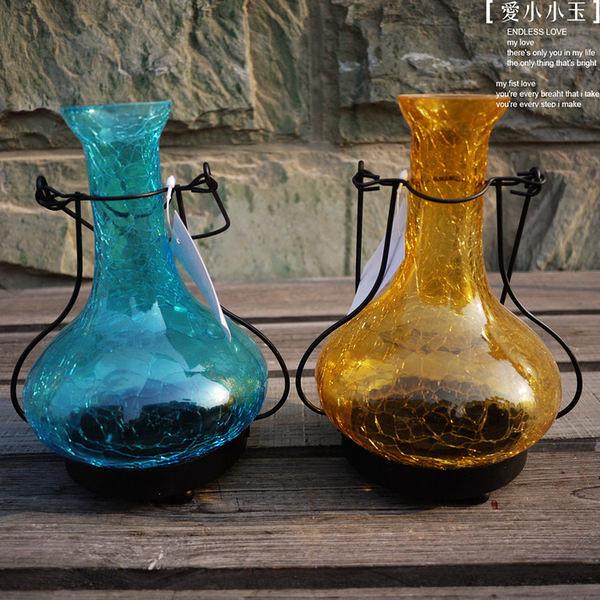 【瑪格麗特款:玻璃彩晶風燈】歐式燭台2個組