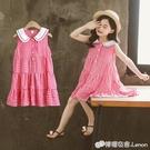 女童洋裝 童裝女童洋裝新款夏裝小女孩公主裙時尚中大童裙子格子裙潮
