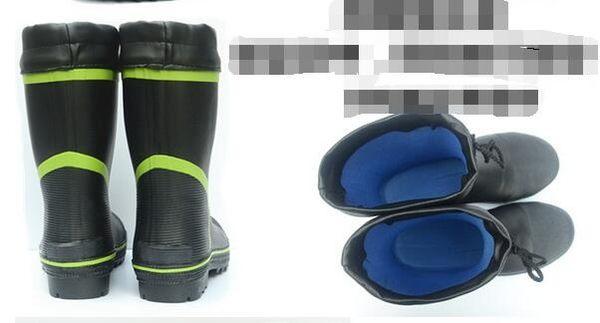 中矮筒男士防砸鋼包頭橡膠雨靴特價【藍星居家】