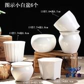 多肉花盆陶瓷粗陶簡約家用透氣拇指盆盆栽【古怪舍】