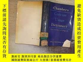 二手書博民逛書店CHAMBERS罕見CONCISE USAGEY203004