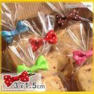 烘焙餅乾點點蝴蝶結束口帶 糖果包裝袋 不...