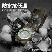新品指南針云光熊貓高級便攜指南針車載高精度夜光多功能戶外野外羅盤防水LX