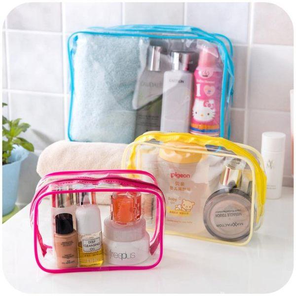 [超豐國際]透明防水洗漱包女PVC旅行用品收納包 旅游出差大容量化妝包收