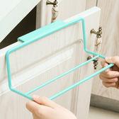 ♚MY COLOR♚塑料門背式簡易置物架 創意 廚房 櫥櫃 門背 單桿 毛巾架 掛抹布 掛架【P489】