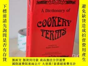 二手書博民逛書店1998年,a罕見dictionary of cookery t
