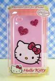 【震撼精品百貨】Hello Kitty 凱蒂貓~HELLO KITTY iPhone4貼鑽手機殼-粉愛心