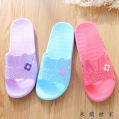 夏天情侶可愛家居防滑女士涼拖鞋