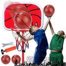 兒童鐵桿鐵筐籃球架子可升降家用室內小孩籃...