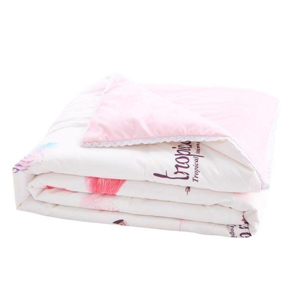 全棉水洗棉夏季被子薄空調被夏涼被夏被春秋被單雙人宿舍學生夏天 【korea時尚記】