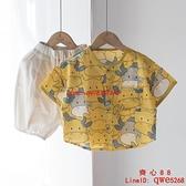 兒童薄款襯衫短袖寶寶上衣男童女童純棉襯衣奶牛【齊心88】