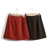 秋裝上市[H2O]後綁帶設計A字短裙 - 紅/黑色 #0652003