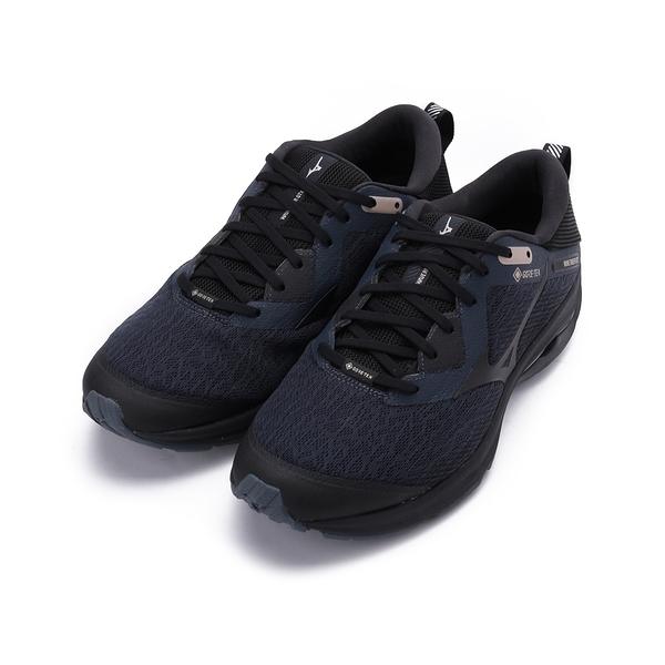 MIZUNO WAVE RIDER GORE-TEX 防潑水慢跑鞋 墨黑 J1GC207910 男鞋