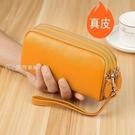 女士長夾真皮女士錢包女長款大容量雙拉鍊手包新款女式手拿包可放手機 快速出貨