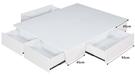 【森可家居】純白5尺置物床底 10JX385-2 雙人 抽屜收納型