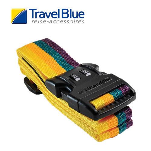 英國Travel Blue藍旅1.5吋兩碼鎖旅行束帶 黃/紫色 TB046 露營│登山│戶外│旅遊│出國│行李束帶