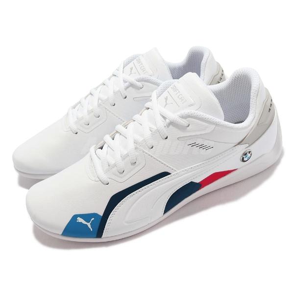 Puma 賽車鞋 BMW MMS Drift Cat Delta 男 白 皮革 寶馬 休閒鞋【ACS】 306874-02