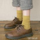 襪子女棉線中筒襪ins潮韓版日系厚中長襪秋冬季黑色堆堆襪女韓國 探索先鋒