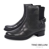 Tino Bellini帥勁仿舊低跟短靴_擦色灰 A69025 歐洲進口