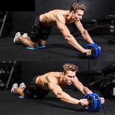 健腹輪腹肌輪大號腹部收腹輪健身器材家用男士靜音滾輪鍵推輪滑  IGO