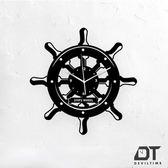 DT Time復古木質系列時鐘-掌舵