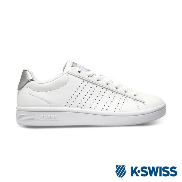 【超取】K-SWISS Court Casper S時尚運動鞋-女-白/銀