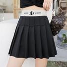 高腰百褶裙 短裙女2020夏季新款學生黑色a字鬆緊腰半身裙子 BT22228『bad boy時尚』