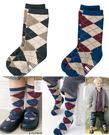 【發現。好貨】日本CO*BI 英倫風男童襪 經典格子兒童中筒襪 菱形圖案 男童棉質