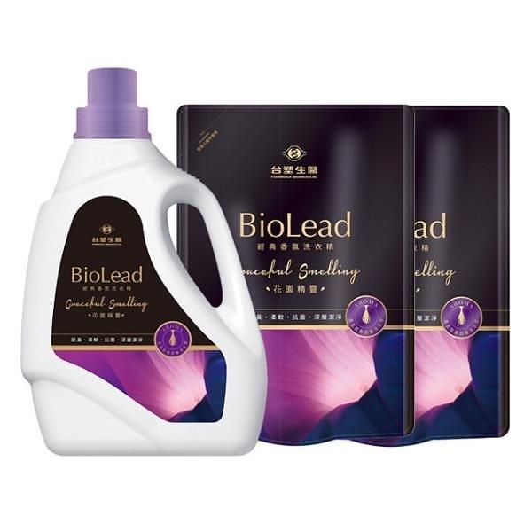 【南紡購物中心】《台塑生醫》BioLead經典香氛洗衣精 花園精靈(1瓶+2包)