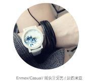 個性禮物波西米亞風蓮花牛皮手繩手錶套裝小資文藝版女錶 小確幸生活館