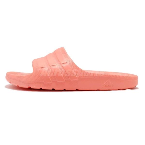 adidas 拖鞋 Duramo Slide 橘 粉橘 一片拖 防水 三條線 男鞋 女鞋【PUMP306】 CG2795