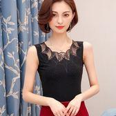 夏季黑色吊帶背心女外穿性感短款蕾絲打底衫寬鬆百塔春夏大碼女裝 易貨居