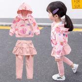 女寶寶秋裝套裝0一1-2-3歲韓版潮4兒童裝女童洋氣時髦裙褲兩件套5【卡米優品】