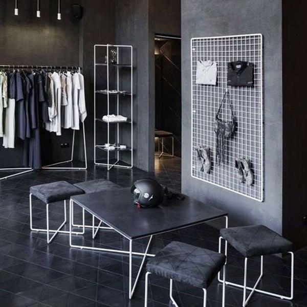 網格墻壁拍照用壁掛墻上服裝店服網掛式的咖啡掛衣廳娃娃鐵網裝飾