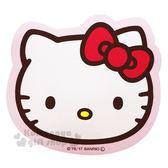 〔小禮堂〕Hello Kitty 多功能造型止滑墊《粉.大臉》手機擦拭.滑鼠墊 8039331-80001