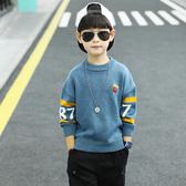男童毛衣套頭大兒童秋冬款男孩針織打底衫潮韓版洋氣線衣