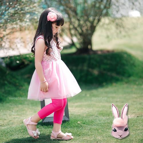 粉球蝶結兔點點蕾絲洋裝(230255)★水娃娃時尚童裝★
