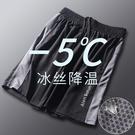 運動短褲男 寬鬆 休閒 健身 速幹 薄款 冰絲五分褲網眼球褲沙灘夏季女潮  快速出貨