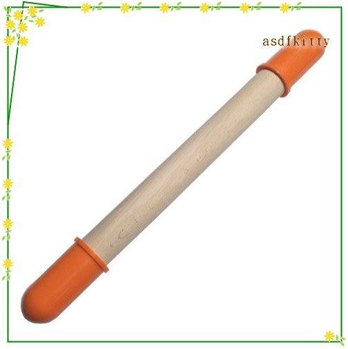 asdfkitty可愛家☆日本CAKELAND橘色控制厚度桿麵棍-麵皮4mm-做餅乾方便歐-1979-日本製