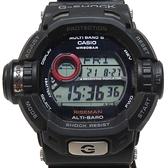 CASIO G-Shock 限量款黑色樹脂錶帶六局電波錶 RISEMAN GW-9200【二手名牌BRAND OFF】