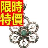 祖母綠寶石項鍊墜子S925純銀1.78克拉-生日情人節禮物質感女飾品53be34【巴黎精品】