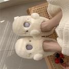 棉鞋 細細條 可愛卡通棉拖鞋女春室內居家用防滑厚底毛絨月子棉鞋【快速出貨八折下殺】